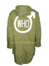 The Who | Quadrophenia Olive Green Fishtail Parka | Sizes XS to Large