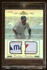 2011 TOPPS TRIBUTE DEREK JETER DUAL PATCH TAG LOGO /24  AMAZING DUAL TAG PATCH
