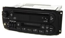 2001 Jeep Grand Cherokee Radio AM FM Cass CD w Aux Input P04858540AH Twin 7 RAZ