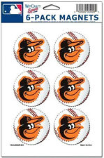 Baltimore Orioles MLB Baseball Team Logo Wincraft Sports Magnet 6 Pack Set