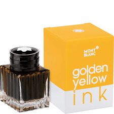 MONTBLANC PEN  GOLDEN YELLOW INK IN  INKWELL 30ml  NEW IN BOX  112723