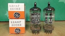 Pair of GE (Ei) 12AX7 ECC83 NOS NIB Smooth Plate Vacuum Tubes - 7% matched