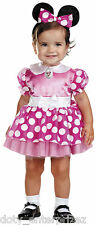 NEW 12-18M Toddler Disney's Pink Minnie Mouse Classic Infant Halloween Costume