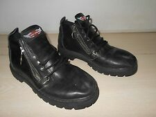 Black Leather Motorcycle Shoes Harley Davidson SIZE 7.5 Women's Riding Shoes