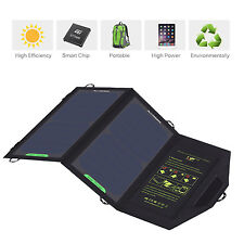 Portable 5V 10W Solar Panel USB Charger Pack Power Bank For Phone Tablet Travel