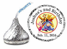 216 WINNIE THE POOH BIRTHDAY PARTY FAVORS HERSHEY KISS LABELS