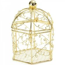 10 x or cage à oiseaux mariage faveurs table decor fairytale wedding ef
