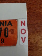 California License Plate Red Month Sticker Tag YOM CA