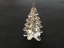 "6"" Solid Leaded Crystal Toscany Collection Art Glass Christmas Tree Decoration"