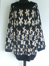 Original Vintage 80s Jumper by Zandra Rhodes At 5th Avenue UK14/16 Designer Xmas