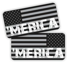 MERICA Black Ops American Flag AR15 Lower Decals | Magazine Stickers Colt 5.56