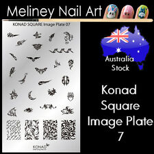 Konad Square Image Plate 7 for Stamping Nail Art Transfer Stencils Tattoos