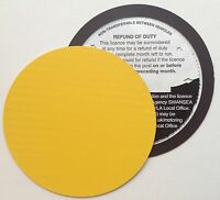 magnetic tax disc holder YELLOW carbon fibre Fits volkswagen vw vauxhall focus