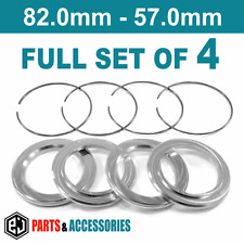 82.0 - 57.0 Spigot Rings Hub Rings FULL SET BBS wheels aluminium spacers rings