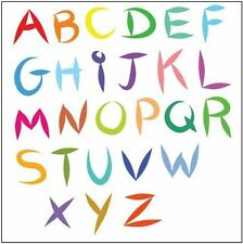 Single Sheet A-Z Funky Alphabet Letter Strip Temporary Tattoos - Boys and Girls