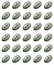 30 x Rugby Balls Cupcake Toppers Edible Wafer Paper Fairy Cake Topper