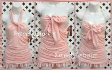 $190 Juicy Couture Pink Ruffle Skirted Bandeau SwimDress Swimsuit Small S 2 4