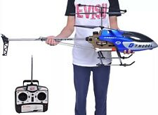 53 Inch Extra Large Blue Helicopter GT QS8006 2 Speed 3.5 Ch RC Builtin GYRO LED