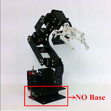 New 6DOF Aluminium Mechanical Robotic Arm Clamp Claw Mount Robot Kit