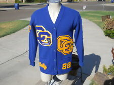 Vintage 1988 Case Grande Arizona High School Letterman Sweater Broadway L A Ca.