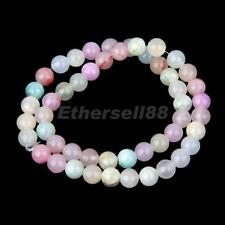 50 Jade Stone Round Gem Loose Beads Spacer for Jewellery Making Craft 8mm-6mm