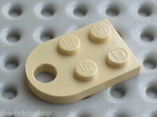 LEGO Viking tan Plate 3 x 2 with Hole ref 3176 / Set 7017 7018 7470 8877
