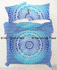 Ethnic Indian Ombre Mandala Print Bedding Duvet Quilt Cover Bohemian Bad spread
