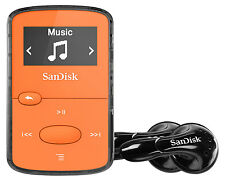 SanDisk Sansa Clip Jam 8GB MP3 Player with FM Radio holds 2000 Songs - Orange