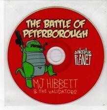 (DQ593) The Battle of Peterborough, MJ Hibbett & The Validators - 2012 DJ CD