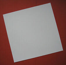 "12"" Square Clear Acid Free Scrapbook White Card 10 pack"
