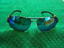 CALCUTTA REGULATOR BLACK METAL FRAME BLUE MIRROR  POLARIZED LENS SUNGLASSES NEW