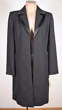 NWT AMANDA SMITH Suits BLACK Sz 8 Elegant Long Dress Jacket Coat Business Office