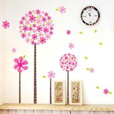 Dandelion Flower Tree Pink Wall Sticker DIY  Children  Bedroom Decal Removable