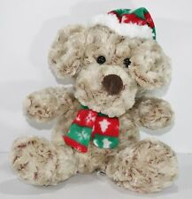 """Plush Puppy Dog Christmas Scarf Hat Curly Hair Super Soft and squishy 13"""""""