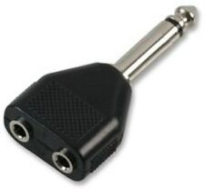6.35 mm Plug A 2 x 3,5 mm jack socket Mono Y Splitter Adaptador 6.3 Mm 1/4