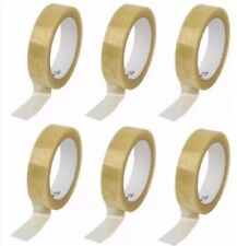 6x clear selotape 25mm x 66m Packing tape Packing Tape Letters Parcel UK SELLER