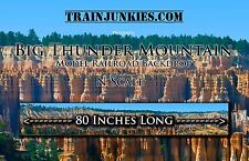 "TrainJunkies N Scale ""Big Thunder Mountain""  Backdrop 12x80"" C-10 Brand New"