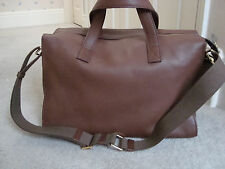 SIRNI - ROMA BROWN LEATHER BAG with Shoulder Strap and Detachable Clutch