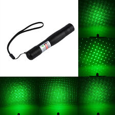 Green Laser Pointer Pen Clip Star Cap 532nm Adjustable Focus Beam Light LC