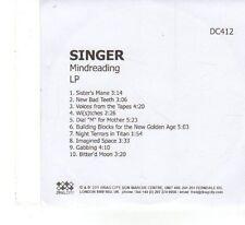 (FX55) Singer, Mindreading - 2011 DJ CD