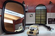 Land Rover Series 2 2a 3 Door Wing Large Convex Mirrors 606187 Long Arm Arms x2