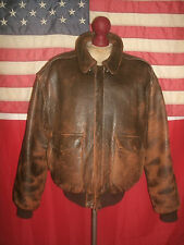 Vintage  AVIREX  USAF Type A-2  Flight Bomber Motorcycle Leather Jacket . Size L