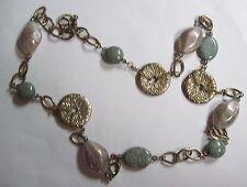 PREMIER DESIGNS Lavender Blue & Silvertone Necklace