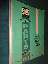 1965 GMC TRUCK MASTER PARTS CATALOG  / ORIGINAL BOOK 1000-6500 PICKUP PANEL BURB