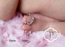 Princess-Dreams dedos del pie anillo corona sesión fotográfica accesorios Newborn plata