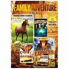 Family Adventure Pack: 8 Movies (DVD, 2014, 2-Disc Set) WORLD SHIP AVAIL