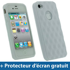 Blanc Étui Housse gel TPU motif boule de golf pour Apple iPhone 4S 16/32/64 Go