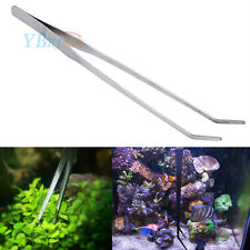 27cm Aquarium Live Plant Curve Stainless Steel Tweezer Scissor Trimming Tool New