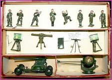 Vintage Britains 2052 Anti-Aircraft Set Original Box Toy Soldier Spotlight Gun