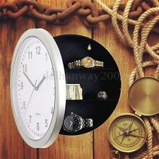 Hidden Secret Wall Clock Safe Container Box for Money Stash Jewelry Storage New